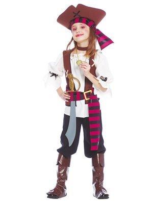 Guirca grafoplas Disfraz piratessa Los de Nuevo EL Mundo niña,, 5/6años, 85381