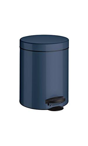 Meliconi Pattumiera Pedale 5 lt Lamiera litografata colore Blu con Secchio plastica 18.7 x 18.7 x 24 . Made Italy