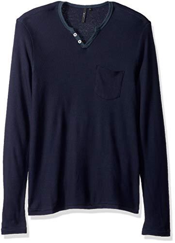 Joe's Jeans Herren Wintz L/S Thermal Henley Shirt, Sky Captain, Groß - L/s Thermal Henley