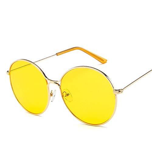 Sonnenbrille aus Metall, rund, hohl, Retro-Lackierung, Sonnenbrille, Sonnenbrille Europa und die Vereinigten Staaten, Ozean, Sonnenbrille, Braun wie abgebildet