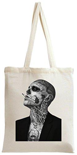 Zombie Boy Rick Genest Tattoo Tote Bag