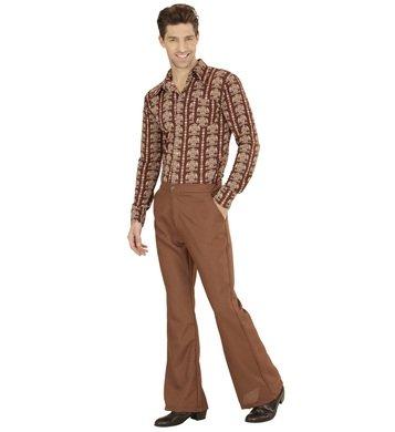 80s Kostüme Dress 70s 60s Fancy (Schlaghose Herren Groovy 70s 70er siebziger Jahre Schlager Hose (L/XL,)