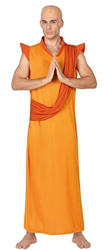 Krishna Kostüm Hare - ATOSA 26607 Karnevalskostüm, Orange, 50/52