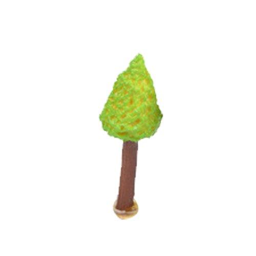LAMEIDA Miniatur Fairy Garden Green Tree Ornament Puppenhaus Blumentopf Figur DIY Craft für Garten Outdoor Home Decor 2cm, Kunstharz, grün, S,1cm (Tree Outdoor Kits House)