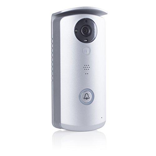 Smartwares IP Video Türsprechanlage mit App-Anbindung, Aufnahme und Gegensprechfunktion, 1 Stück, VD40W
