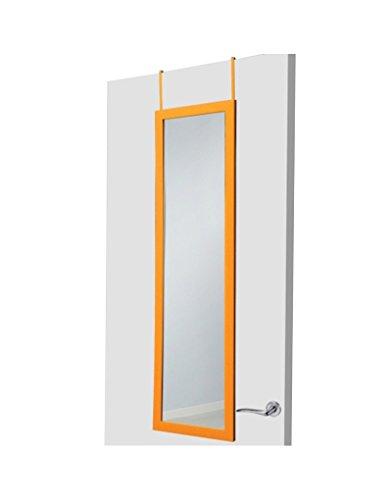 UNIMASA Espejo para puerta naranja sin agujeros
