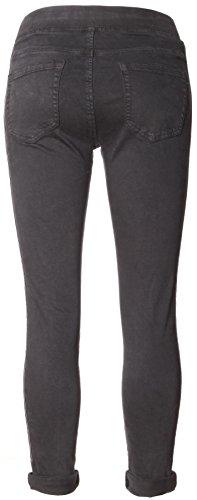 Basic.de -  Pantaloni  - Donna - Anthrazit