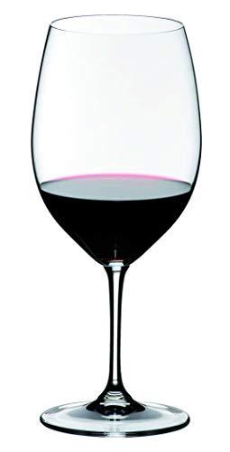 RIEDEL 6416/0 Vinum Cabernet Sauvignon/Merlot (Bordeaux), 2-teiliges Rotweinglas Set, Kristallglas