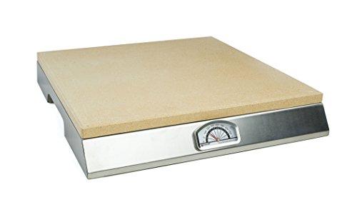 Pizzacraft Pizzastein mit integriertem Thermometer, silber, 15.62 x 44.96 x 47.5 cm, PC0106