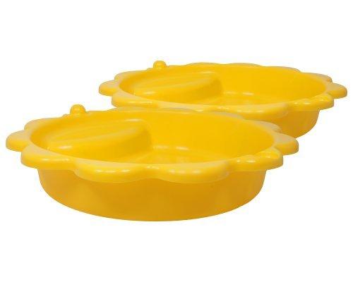Sandkasten Planschbecken Sonnenblume Buddelkasten Kinderpool gelb XXL 114 cm