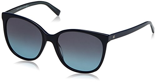 Tommy hilfiger th 1448/s nm b7k, occhiali da sole donna, blu (bluette teal/grey sf turquoi), 56