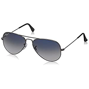 Ray-Ban Aviator Sunglasses (Polar Blue and Faded Grey) (RB3025|004/78 55)