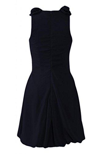Sunvary Beautiful corto smanicato da Cocktail Party Dresses Bridemaid vestiti Black