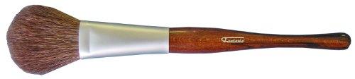 Fantasia - 17203 - Pinceau poudre ovale plat - Manche Revlona marron moiré - Bague serrage mate - Mélange poils chèvre
