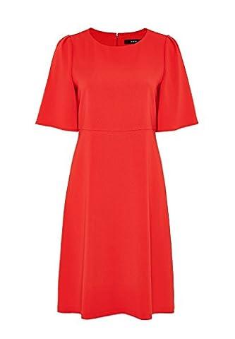 HALLHUBER A-Linien-Kleid mit Flügelärmeln schwingende Rockform tomate, 36
