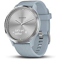 Garmin Vivomove HR Hybrid Smart Watch - Silver with Seafoam Band