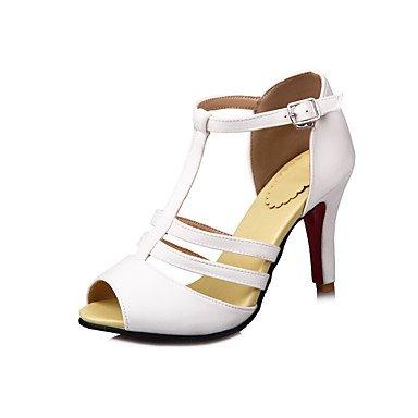 LvYuan Da donna-Sandali-Formale Casual Serata e festa-Altro-Quadrato-Felpato-Nero Giallo Rosso Bianco Yellow