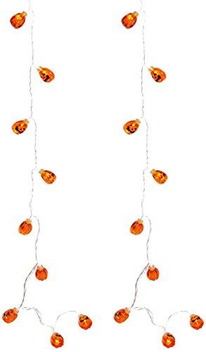 Heitmann Deco Doppelpack Motiv-Lichterkette Kürbisse à10 LEDs - ideal als Halloween-Deko für Partys - orange, batteriebetrieben, innen