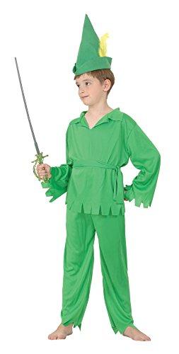 Peter Kinder Pan Robin Hood Oder Kostüm - Bristol Novelty CC514 Peter Pan Robin Hood Kostüm