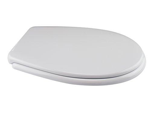 Saniplast sebino sedile wc, resina termoindurente, bianco, 44.8x36.2x4.1 cm