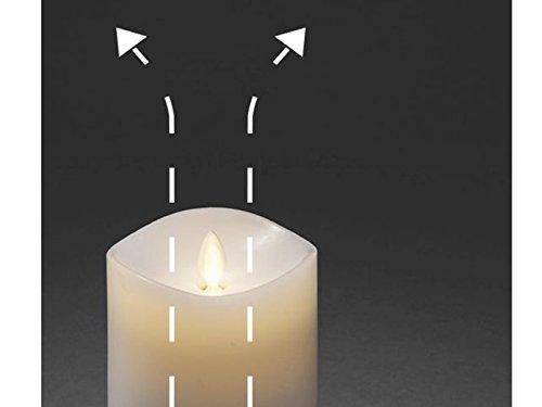 LED Vela Aromática con temporizador, color blanco, centelleante), con 4diferentes de duftpads, 9cm de diámetro, altura 18cm, pilas: 2x D 1,5W (No Incluidas.)