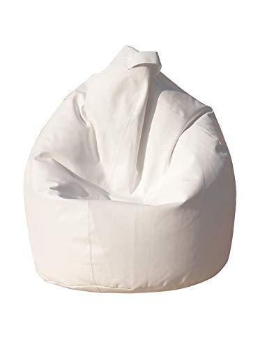 13Casa, Dea, Poltrona a sacco, Bianco, 70 x 110 cm