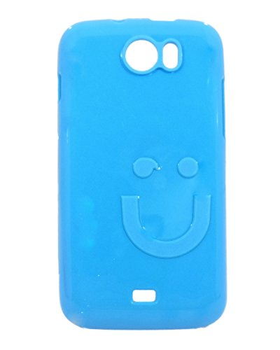iCandy™ Imported Quality Soft TPU Smiley Back Cover For Micromax Canvas 2 A110 - Turquoise  available at amazon for Rs.99