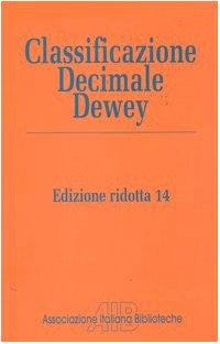 Classificazione Decimale Dewey ridotta-Indice relativo