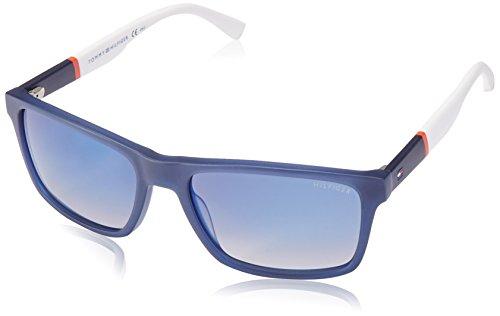x-Erwachsene Sonnenbrille TH 1405/S DK, Schwarz (Blue), 56 (Tommy Hilfiger Sonnenbrille Männer)