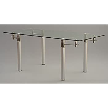 This Item VERONA DESIGNER EXTENDING GLASS DINING TABLE