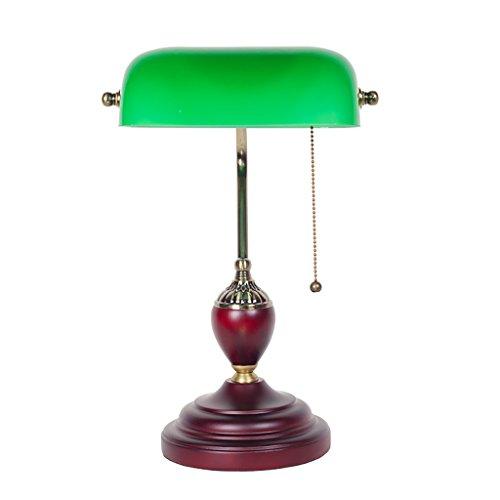ZXLDP Lampe de table Verre antique vintage bois Lampe de table Chambre chevet étude Table Lamp Lampe de table personnalisée