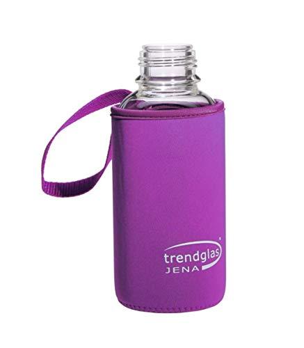 Trendglas Jena Flaschenhülle/Neopren-Schutzhülle/Thermohülle, violett - für Glasflasche, 500 ml -