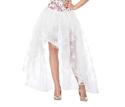 COSWE Damen Röcke Schwarz Punk Irregular Kleid Steampunk Cocktail Chiffon Spitze Party Rock Cosplay - Victorian Lace Kleid