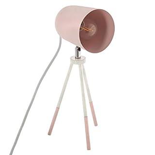 Tischlampe auf Stativ, Metall Schreibtischlampe - Höhe 32 cm (Rosa)