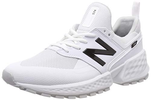 New Balance Herren 574S v2 Sneaker, Weiß White Ktc, 44 EU (Herren New Balance Schuhe Weiß)
