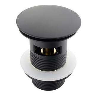 ATCO® PU18 mit Überlauf Pop-Up Ventil Ablauf Ablaufgarnitur Excenter Exzenter Abfluss Klick-Ventil schwarz