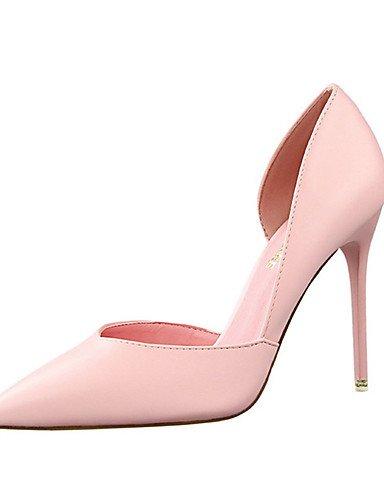 WSS 2016 Chaussures Femme-Décontracté-Noir / Jaune / Rose / Rouge / Blanc / Gris-Talon Aiguille-Talons-Talons-Polyuréthane white-us8 / eu39 / uk6 / cn39
