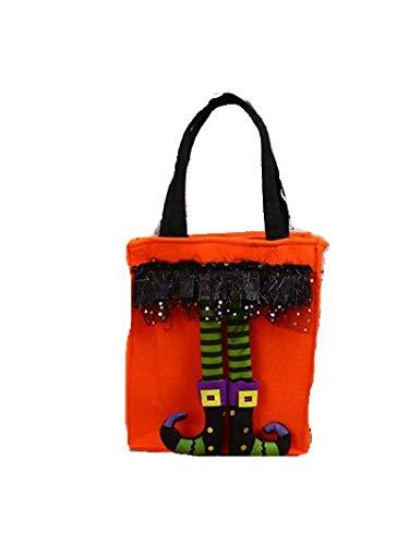 r Saures Taschen - Halloween Elf Muster Tragbare Süßigkeiten Handtasche Kinder Snacks Taschen Dekor Geschenk (Halloween) (Color : Orange) ()