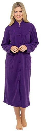 Giacca a maniche lunghe a maniche lunghe e bottoni a manica lunga Purple
