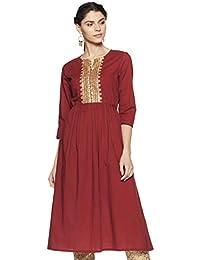 Amazon Brand - Myx Women's Anarkali Kurta