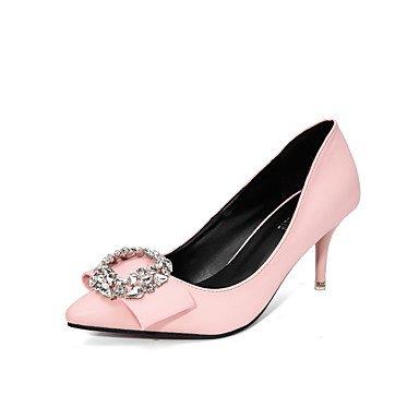Moda Donna Sandali Sexy donna tacchi tacchi caduta / Punta Dress Stiletto Heel fibbia nero / rosa / Bianco a piedi White
