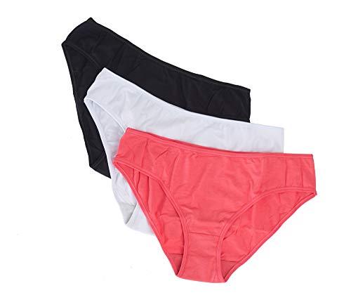 Clotho Hipster Panty 3 Pack geruchsbekämpfende Kupfer-Baumwolle - - X-Groß -