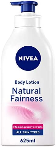 NIVEA, Body Care, Body Lotion, Natural Fairness, Dry Skin, 625ml
