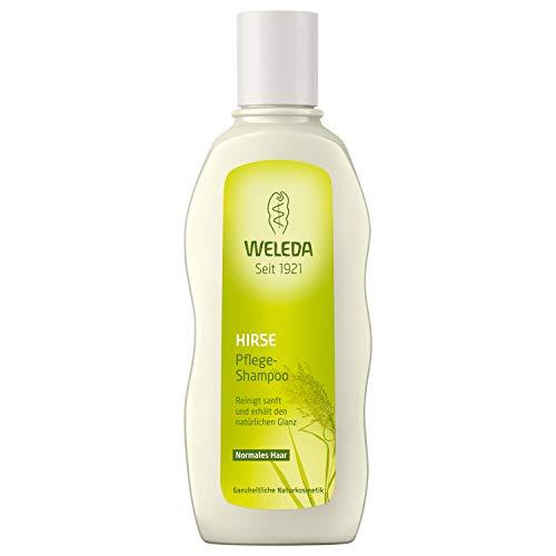 WELEDA Hirse Pflege-Shampoo, Naturkosmetik Bio Shampoo für die sanfte Reinigung von Haar und Kopfhaut, Pflegeshampoo für natürlichen Glanz und Spannkraft der Haare (1 x 190 ml) -
