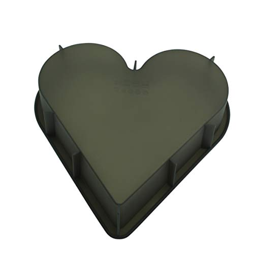 baekka Herz-Backform aus Platin-Silikon anthrazit transparent
