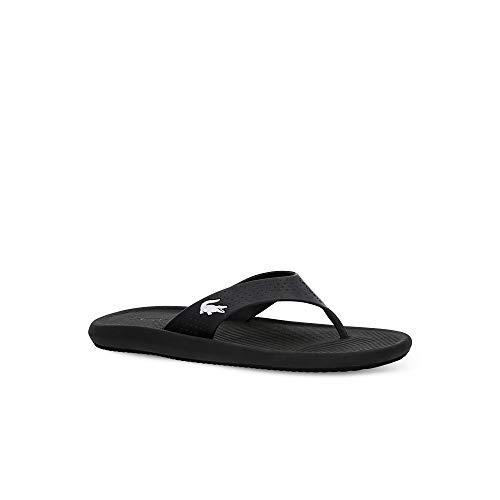 Lacoste Herren Croco Sandal 219 1 CMA Sneaker, Schwarz (Black/White 312), 42 EU