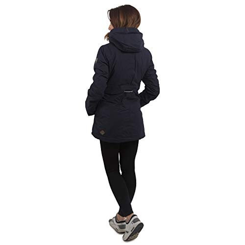 Ragwear Damen Wintermantel Parka Monadis, Navy, S - 6