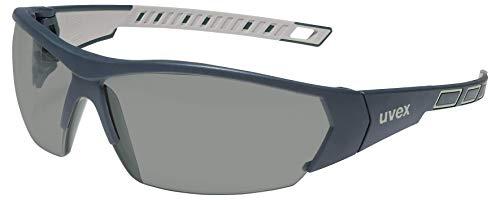 uvex i-Works Schutzbrille - Kratzfeste & Beschlagfreie Arbeitsbrille - 100% UV-400-Schutz - Schwarz/Getönt