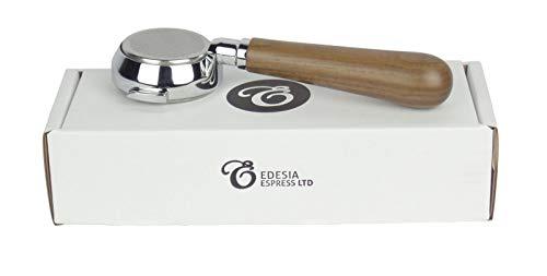 Bodenloser Siebträger für LA SCALA-Espressomaschinen - Walnuss-Griff, 21g Sieb - 3 Tassen