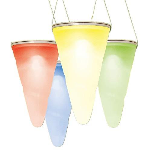 cuzile Wasserdicht Solar Hängeleuchte 7 Farbe ändern LED Solar Powered Lights Membran Lampe für Outdoor Garden Tree Kornett Eaves - 1 Packung